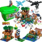 3 в 1 мой мир серии роскошный домик на дереве домашнее животное деревня ферма Совместимость legoINGLY Minecraft ветряная мельница Строительные блоки Кирпич детские игрушки купить на AliExpress