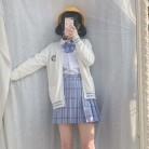 4489.75 руб. 6% СКИДКА|Японский JK школьная форма для Для женщин белая футболка Embroideried моряка юбка 5 шт. костюм студент девочек класса комплект купить на AliExpress