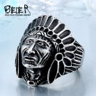 BEIER Chief Stainless Steel USA Indiana Motorcycle Rider Fashion Men's Skull Ring BR8 231 US Size 7 13-in Rings from Jewelry & Accessories on AliExpress