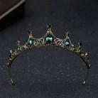 Лидер продаж, винтажные диадемы и короны в стиле барокко с зеленым кристаллом, головной убор Noiva, свадебные украшения для волос, Свадебная ве...