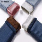 981.06руб. 50% СКИДКА|Зимние теплые джинсы женские 2019 Высокая талия женские толстые бархатные брюки синие джинсы Mujer эластичные тонкие женские джинсовые узкие брюки-in Джинсы from Женская одежда on AliExpress