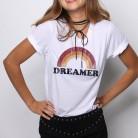 Mujeres t shirt top dreamer letra casual impreso impresión graphic mujer tumblr camiseta moda ropa tees camisa en Camisetas de Moda y complementos de mujer en AliExpress.com | Alibaba Group