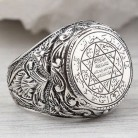 Men's Hip Hop Antique Silver Carved Arabic Pentagram Star Pattern Knuckle Rings Punk Jewelry Rock Cool Masculine Gifts Z4M396-in Rings from Jewelry & Accessories on AliExpress