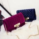 US $16.83 49% OFF|Fashion velvet crossbody bags for women Zipper clutch bag luxury handbags women bags designer Evening Bags bolsas feminina #447-in Top-Handle Bags from Luggage & Bags on Aliexpress.com | Alibaba Group
