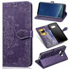 Для samsung Galaxy S8 S9 plus Мандала Цветок Кожаный чехол портмоне крышка для Galaxy Note 9 J2 Core J4 J6 плюс Чехол для телефона купить на AliExpress