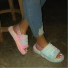 new women spring plush slippers 2020 ms flat bottom antiskid indoor all-around comfortable sandals outdoor leisure Women's