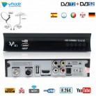 Vmade Full HD Digital TV Tuner DVB-T2 DVB-S2 Combo Terrestrial Satellite Receiver Support Dolby AC3 Decoding IPTV Youtube Cccam
