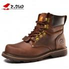 3858.11 руб. 20% СКИДКА|Z. suo/зимние мужские ботинки из натуральной кожи; зимние ботинки высокого качества в военном стиле; Новинка 2018 года; фирменная обувь-in Базовые сапоги from Туфли on Aliexpress.com | Alibaba Group