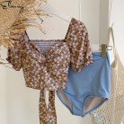 Swimwear 2019 Sexy Swimsuit Women High Waisted Tankini Sets Swim Vintage Beach Wear Bathing Suits Female Swim Suit Padded