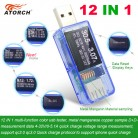 326.75 руб. 20% СКИДКА|ATORCH 12 in 1 USB tester dc digital voltmeter amperimetro voltage current meter ammeter detector power bank charger indicator-in Измерители напряжения from Орудия on Aliexpress.com | Alibaba Group