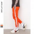 1651.29 руб. 49% СКИДКА|Инфляции полосатый Светоотражающие Брюки мужские 2018 хип хоп Повседневное джоггеры штаны брюки мужчины уличный стиль мужские брюки 8407 s купить на AliExpress