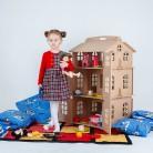 2840.2 руб. 56% СКИДКА|КУКОЛЬНЫЙ ДОМИК для самостоятельного раскрашивания и декора, с дверцами 100х56х53 см-in Кукольные дома from Игрушки и хобби on Aliexpress.com | Alibaba Group