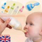 90 мл прекрасная безопасная силиконовая бутылочка для кормления младенцев с ложкой, пищевая рисовая бутылочка для каши, лучший подарок