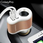 US $3.88 |CinkeyPro Car Charger Cigarette Lighter Car Charger Adapter 2.1A 2 Port USB Smart Mobile Phone Charging For iPhone 6 iPad XiaoMi-in Car Chargers from Cellphones & Telecommunications on AliExpress