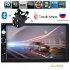 Авторадио 2 din общие модели 7 ''дюймовый ЖК сенсорный экран Bluetooth автомобильный Радио плеер автомобиля аудио aux Поддержка Камера заднего вида 7010b купить на AliExpress