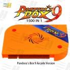 Boîte Pandora 9 version arcade plateau de jeu construit en 1500 jeux pour machine d'arcade boîte de pandore 9 1500 en 1 Pandora 5s 6s 7 pacman