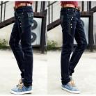 4157.18 руб. 20% СКИДКА|Костюмы джинсы мужские тонкие узкие осенние и зимние толстые купить на AliExpress