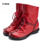 US $25.2 28% OFF|CYOSO Winter Women Boots Genuine Leather Low Heel Shoes Platform Boots Woman Fashion Plus Fur Lace Up Mid Calf Snow Boots -in Mid-Calf Boots from Shoes on Aliexpress.com | Alibaba Group