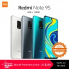 Xiaomi Redmi Note 9S 6GB 128GB Global Version Smartphone Snapdragon 720G Octa core 5020 mAh 48MP Quad Camera Note 9 S