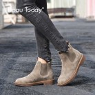 US $61.69 51% OFF|BeauToday Chelsea Boots Women Elastic Ankle Pig Suede Brogue Boot Genuine Leather Quality Brand Lady Shoes Handmade 04016-in Ankle Boots from Shoes on Aliexpress.com | Alibaba Group