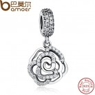 US $7.28 30% OFF|925 Sterling Silver Rose Flower Charm & Pendant Fit  Original Bracelet with Clear CZ Autumn COLLECTION Drop PAS086-in Charms from Jewelry & Accessories on Aliexpress.com | Alibaba Group
