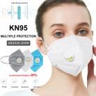 Máscara KN95 a prueba de polvo, válvula respiradora a prueba de viento PM 2,5 máscara 95% filtración de algodón, máscaras bucales anticontaminación