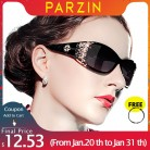 PARZIN Luxury Brand Vintage Sunglasses Women Polarized Ladies Sun Glasses For Women Hollow Lace Feminine Glasses For Driving-in Women's Sunglasses from Apparel Accessories on AliExpress