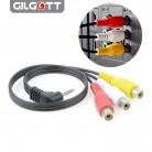 152.42 руб. 39% СКИДКА|Высокоскоростной 90 градусов 3,5 мм штекер 3 RCA штепсельная розетка переходник аудио конвертер видео av кабель провод шнур on Aliexpress.com | Alibaba Group