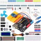 2043.84 руб. 32% СКИДКА|Keywish ADXL335 Starter Kit для Arduino UNO R3 с учебник ADXL335 модуль h мост L293D двигатель постоянного тока матричный Дисплей 19 урок купить на AliExpress