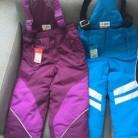 Демисезонные лыжные штаны полукомбинезон зима мембрана непромокоемые непродуваемыедевочка мальчик