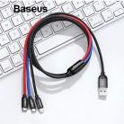 270.76 руб. 20% СКИДКА|Baseus 3 в 1 USB кабель для мобильного телефона кабель с разъемом Micro USB Type C для зарядки для iPhone зарядный кабель Micro USB зарядное устройство Шнур купить на AliExpress