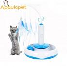 583.37 руб. |APAULAPET Pet Cat Электрический игрушечные лошадки тизер интерактивные игрушечная кошка вращающийся дизайн забавные перо для домашних котов купить на AliExpress