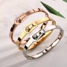 294.41 руб. 5% СКИДКА|Роскошные Кристалл Браслеты для пояса и браслеты модные женские Нержавеющая сталь манжета Леди Свадебная вечеринка Элитный бренд ювелирны купить на AliExpress