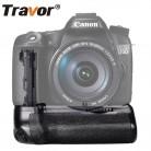 2152.88 руб. 30% СКИДКА|Travor Вертикальная батарея ручка для Canon 70D 80D DSLR камера как BG E14 работать с LP E6 купить на AliExpress