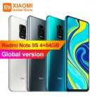 هاتف شاومي ريدمي نوت 9 S 4GB 64GB الإصدار العالمي الهاتف المحمول سنابدراجون 720G ثماني النواة 5020mAh كاميرا 48 mp نوت 9 S الهاتف الذكي