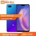 11708.42 руб. |In Stock Global Version Xiaomi Mi 8 Lite Mobile Phone 4GB RAM 64GB ROM Snapdragon 660 Octa Core 24MP Front Camera 6.26