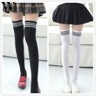 US $1.12 40% OFF|New Socks Fashion Stockings Casual Cotton Thigh High Over Knee Acrylic High Socks Girls Womens Female Long Knee Sock 2018-in Stockings from Underwear & Sleepwears on AliExpress - 11.11_Double 11_Singles' Day