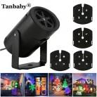 Tanbaby мини ЕС/США В 240 100 в праздник светодио дный светодиодный проектор прожектор с 4 слайды крытый/открытый Рождество, украшение Вечерние купить на AliExpress