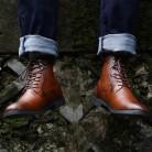 1830.94 руб. 45% СКИДКА|COSIDRAM/мужские ботинки из искусственной кожи; зимняя обувь; модные мужские теплые ботильоны на шнуровке; мужская обувь с заклепками; обувь для невесты; 2018 BRM 053-in Базовые сапоги from Туфли on Aliexpress.com | Alibaba Group