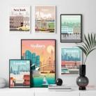 Лондон, Нью-Йорк, Париж, Испания, Карта города, настенная живопись, холст, скандинавские постеры и принты, настенные картины для гостиной, дом...