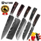 US $23.0 50% OFF|XITUO Kitchen Knives Stainless Steel Damascus laser pattern Knife Paka Wood Handle Fruit Vegetable Meat Cooking Tools Accessorie-in Kitchen Knives from Home & Garden on Aliexpress.com | Alibaba Group