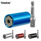 Vastar Universal Torque Wrench Head Set Socket Sleeve 7-19mm Power Drill Ratchet Bushing Spanner Key Magic Grip Multi Hand Tools