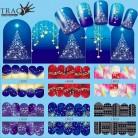 33.37 руб. 17% СКИДКА|1 шт ногтей рождественские наклейки для переноса воды Снежинка синие Полные Обертывания узоры Временная наклейка ногти DIY инструмент TRBN205 216-in Наклейки и наклейки from Красота и здоровье on Aliexpress.com | Alibaba Group