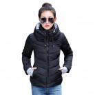 1043.49руб. 64% СКИДКА|2019 зимняя женская куртка размера плюс, женские парки, плотная верхняя одежда, одноцветные пальто с капюшоном, короткие женские тонкие базовые Топы с хлопковой подкладкой-in Базовые куртки from Женская одежда on AliExpress