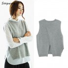 US $12.67 56% OFF Smpevrg fashion casual women sleeveless cashmere sweater slim O neck sexy knit pullovers vest loose solid high quality coat tops-in Vests from Women's Clothing on Aliexpress.com   Alibaba Group