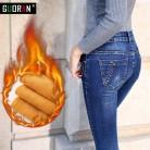 Зимние джинсы женщина 2018 теплые женские брюки карандаш дамы Большие размеры Тонкий ноги длинные джинсы женские джинсы Большие размеры купить на AliExpress