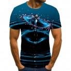 2020 New Male 3d Tshirts Print T Cartoon Shirts Men Summer water drop Tops Men Tees Casual Streetwear 6XL