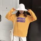 560.85 руб. 10% СКИДКА|Осень 2017, новая мода, простые свободные Универсальные женские футболки с буквенным принтом и длинным рукавом-in Футболки from Женская одежда on Aliexpress.com | Alibaba Group