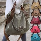 US $13.6 |2018 Kvky Brand Large Pocket Casual Tote Women's Handbag Shoulder Handbags Canvas Leather Capacity Bags For Women -in Shoulder Bags from Luggage & Bags on Aliexpress.com | Alibaba Group