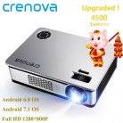 10154.19 руб. 37% СКИДКА|CRENOVA 4500 люмен Видеопроектор для Full HD 1920*1080 проектор для android устройств с WI FI Bluetooth Android 6,0 7,1 OS светодиодный проектор-in Проекторы from Компьютер и офис on Aliexpress.com | Alibaba Group